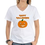 Halloween Pumpkin Women's V-Neck T-Shirt