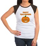 Halloween Pumpkin Women's Cap Sleeve T-Shirt
