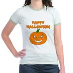 Halloween Pumpkin Jr. Ringer T-Shirt
