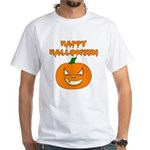 Halloween Pumpkin White T-Shirt