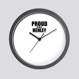 Proud to be HENLEY Wall Clock