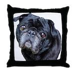 BJ Pug Throw Pillow