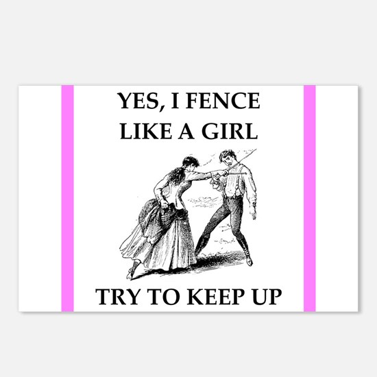 play ike a girl Postcards (Package of 8)