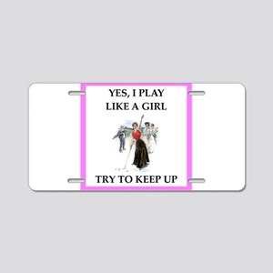 golfer Aluminum License Plate