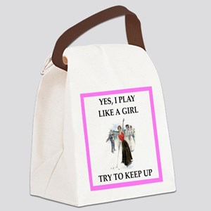 golfer Canvas Lunch Bag