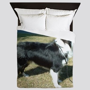 Border_Collie_full 8 Queen Duvet