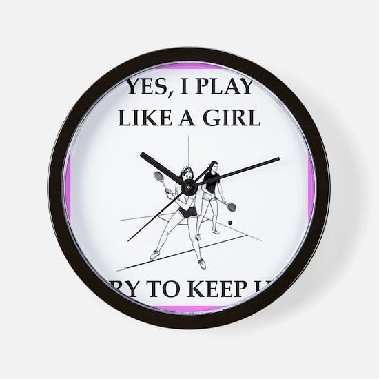 racquetball Wall Clock