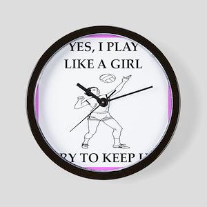 play ike a girl Wall Clock