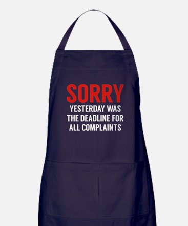 Complaints Deadline Apron (dark)