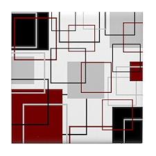 Square Multi Color Tile Coaster