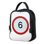 Speed sign 6 Neoprene Lunch Bag