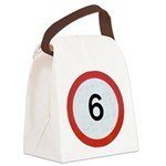 Speed sign 6 Canvas Lunch Bag
