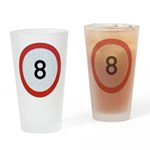 Speed sign 8 Drinking Glass