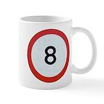 Speed sign 8 Mugs