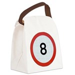 Speed sign 8 Canvas Lunch Bag