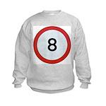 Speed sign 8 Sweatshirt