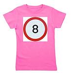 Speed sign 8 Girl's Tee