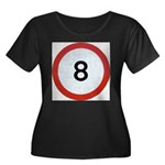Speed sign 8 Plus Size T-Shirt