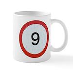 Speed sign 9 Mugs