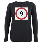 Speed sign 9 Plus Size Long Sleeve Tee