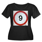 Speed sign 9 Plus Size T-Shirt
