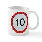 Speed sign 10 Mugs