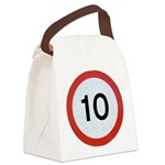 Speed sign 10 Canvas Lunch Bag