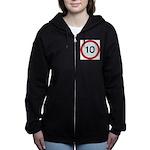 Speed sign 10 Women's Zip Hoodie