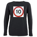Speed sign 10 Plus Size Long Sleeve Tee