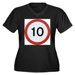 Speed sign 10 Plus Size T-Shirt