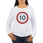 Speed sign 10 Long Sleeve T-Shirt