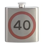 Speed sign 40 Flask