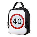 Speed sign 40 Neoprene Lunch Bag
