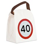 Speed sign 40 Canvas Lunch Bag