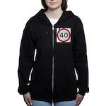 Speed sign 40 Women's Zip Hoodie