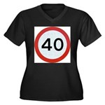 Speed sign 40 Plus Size T-Shirt