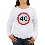 Speed sign 40 Long Sleeve T-Shirt