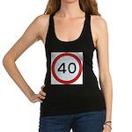 Speed sign 40 Racerback Tank Top