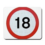 Speed sign 18 Mousepad