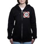Speed sign 18 Women's Zip Hoodie