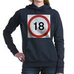 Speed sign 18 Women's Hooded Sweatshirt