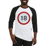 Speed sign 18 Baseball Jersey