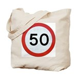 Speed sign 50 Tote Bag