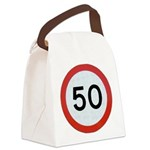 Speed sign 50 Canvas Lunch Bag