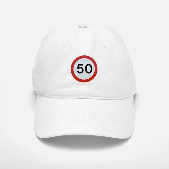 Speed sign 50 Baseball Baseball Cap