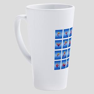 Multi-Sports Panel 17 oz Latte Mug