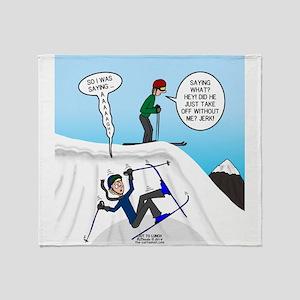 Ski Fall Throw Blanket