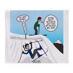 Ski Fall Throw Blanket