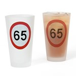 Speed sign 65 Drinking Glass