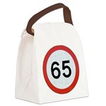 Speed sign 65 Canvas Lunch Bag
